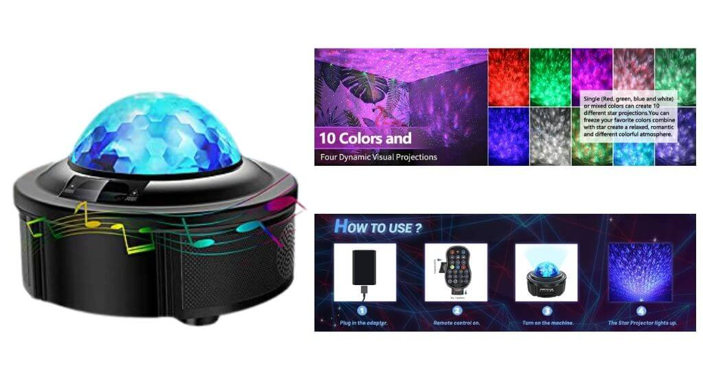 HEI LIANG-Star Projector Night Light Projector with LED Galaxy Ocean Review
