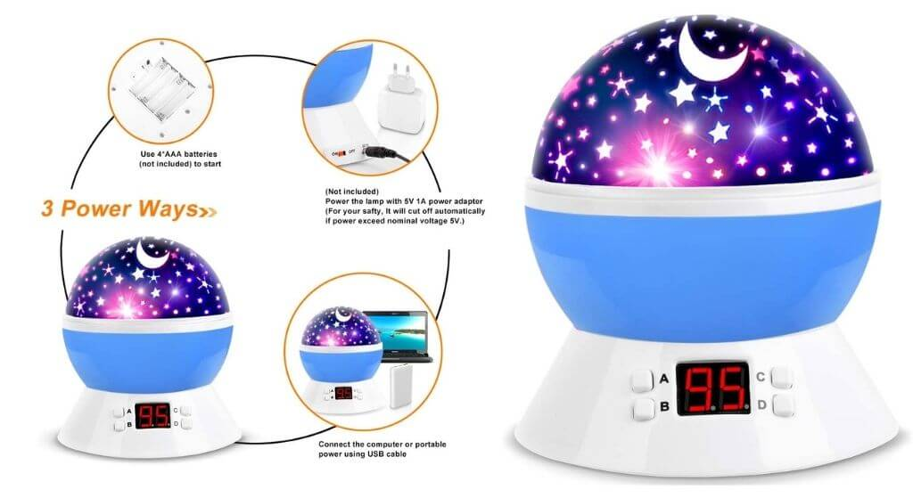 MOKOQI Star Projector Night Lights for Kids With Timer Review