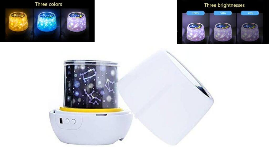 Night Lights for Kids -Luckkid Multifunctional Night Light Star Projector Review