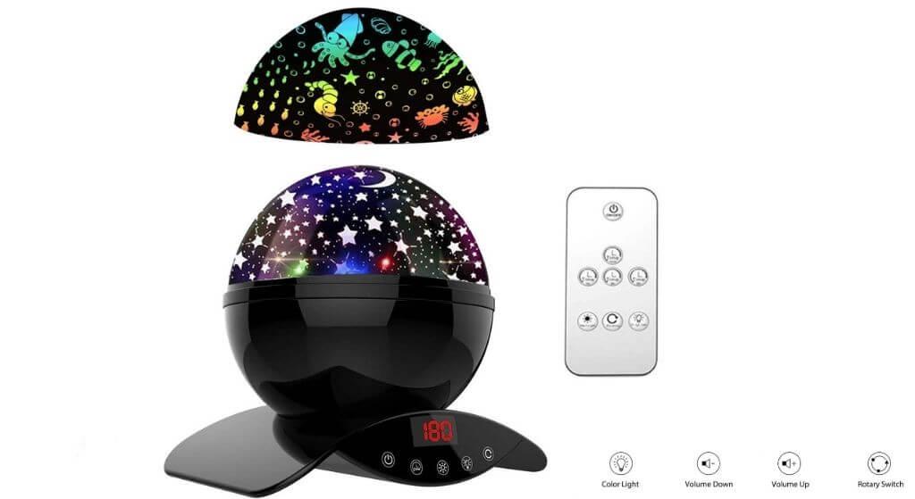 YSD Night Lighting Lamp, Modern Star Rotating Galaxy Projector review