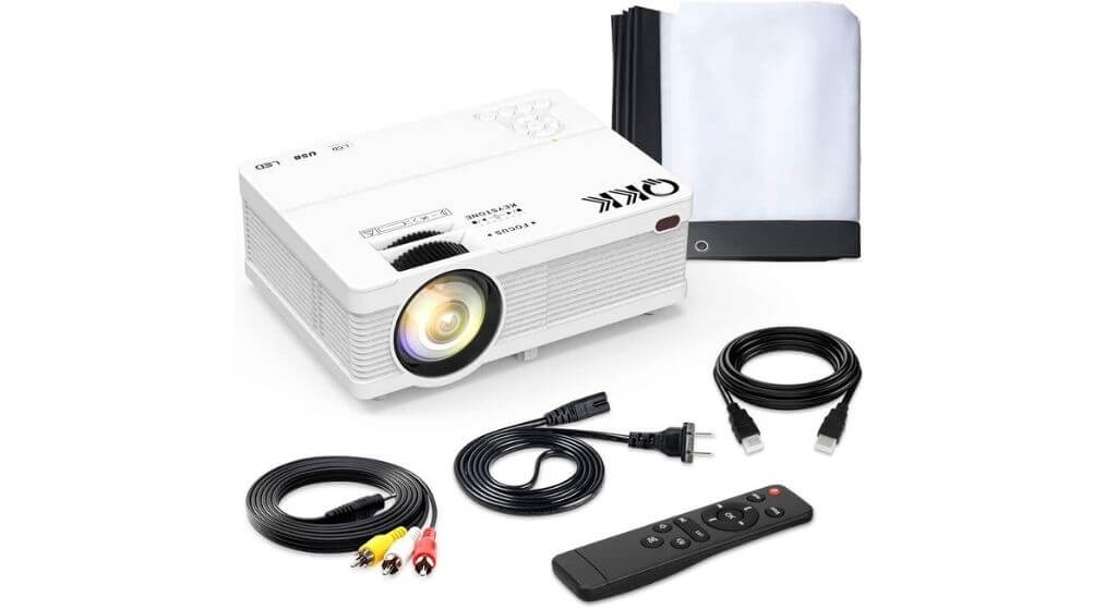 QKK-QK02 with 6500 Lumens Home Theater Projector Review