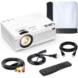 QKK-QK02 with 6500 Lumens Home Theater Projector