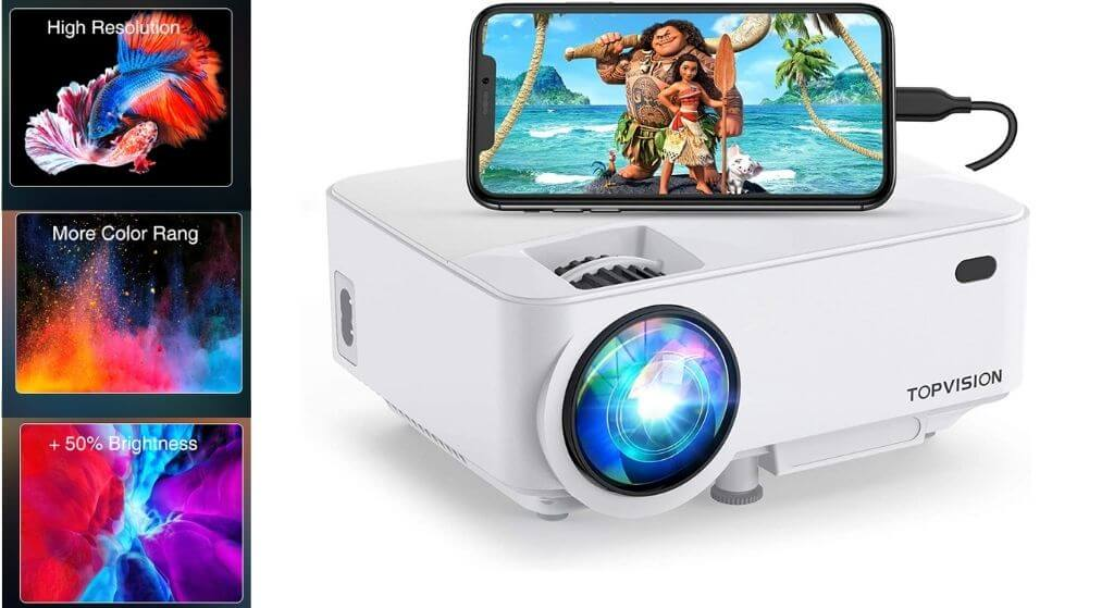 TOPVISION-T21 Screen Mirroring Movie Projector Review