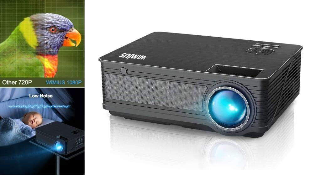 WiMiUS-P18 Black Home Theater Projector Review