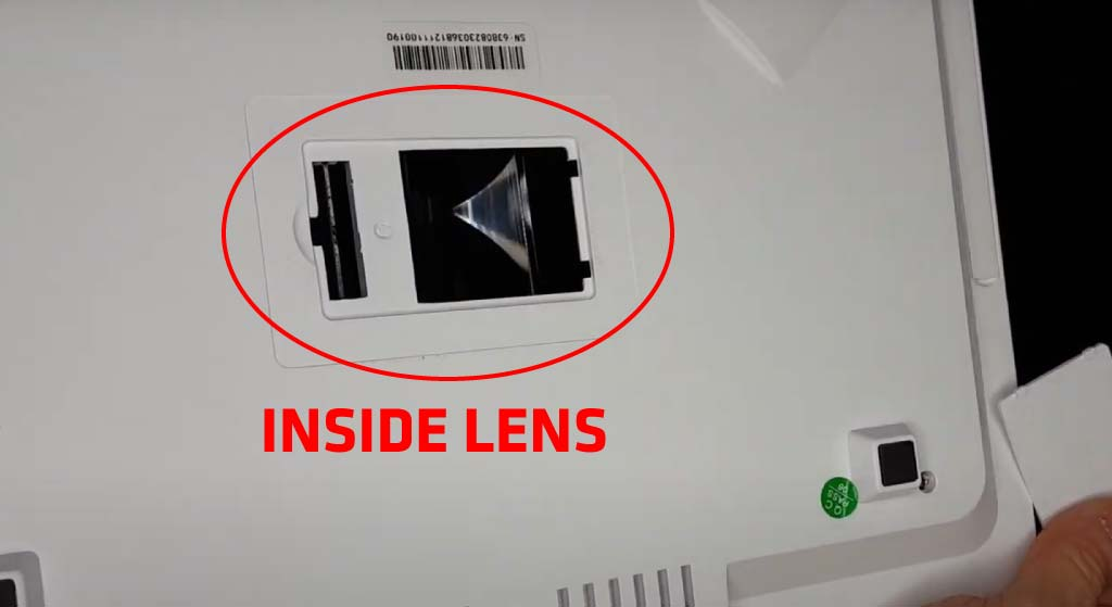 How To Clean The Inside Lens of The Projector