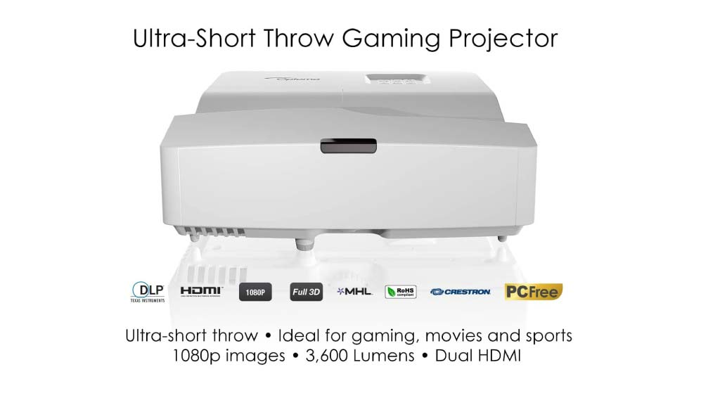 Optoma-GT5600 - Best budget short throw projector in terms of gaming