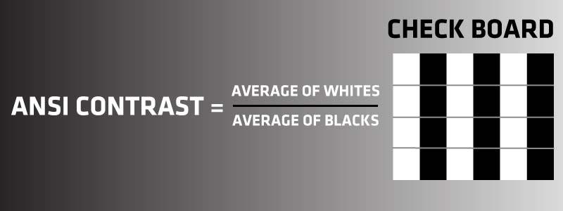 ANSI-contrast-Ratio