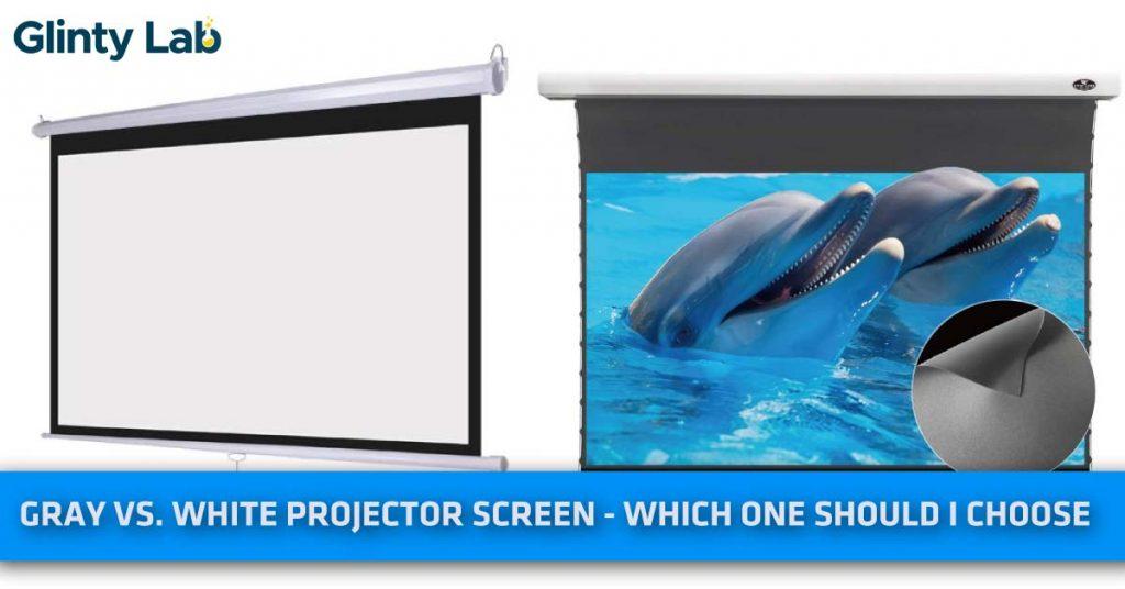 Gray vs. white projector screen